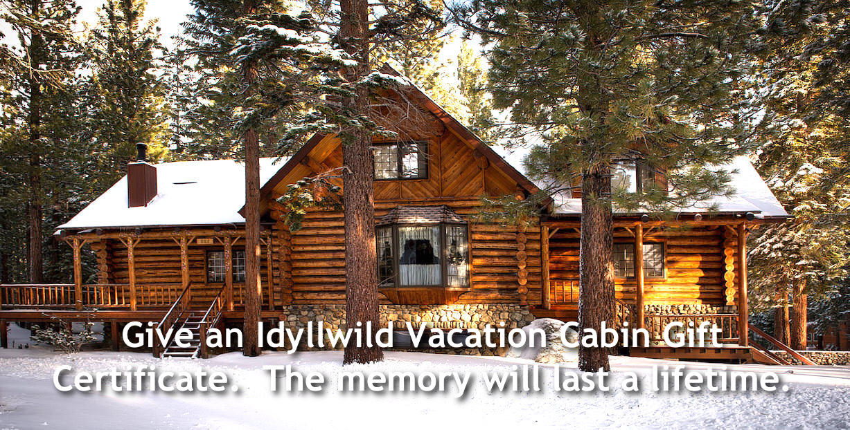 Give An Idyllwild Vacation Cabin as a Gift
